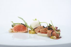 Recipe of tataki salmon by Peter Goossens