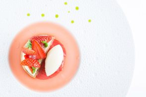 Recipe of Strawberry, Cream Cheese, Lemon and Rhubarb Dessert