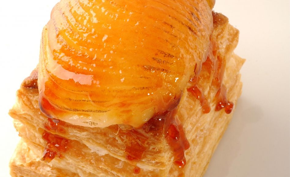 Caramelized Pear Puff Pastry Recipe by Alain Ducasse