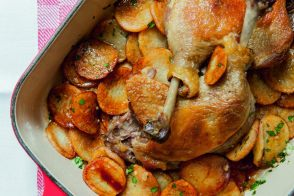 Duck leg and Potatoes recipe by Alain Ducasse
