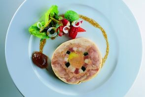 Young Hen Foie Gras Galantine with a Vegetable Salad