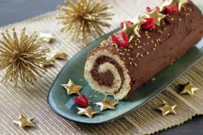 chocolate yule log for christmas