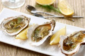 Oysters with Champagne Gelée recipes by All My Chefs