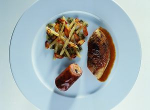Roast Pheasant Breast with Galatine and Salsify
