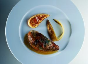 Basque Country Pheasant with Endives Meunière and Pumpkin au Gratin