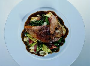 Roast Pheasant and Cabbage in Périgueux Sauce