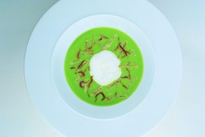 Light Broccoli Consommé with Vegetables