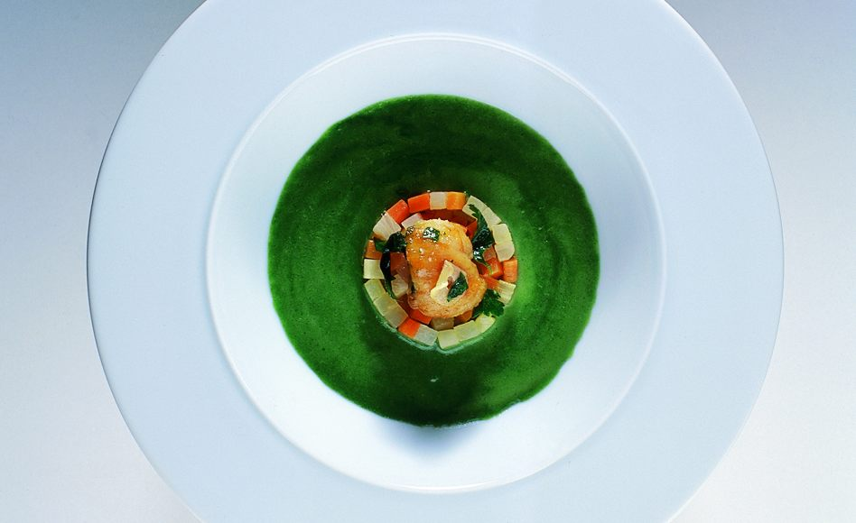 Frog Legs in Watercress Soup