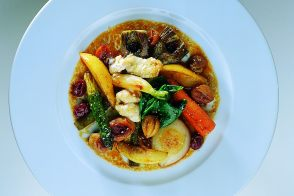Braised Winter Vegetables with Lamb Sweetbreads