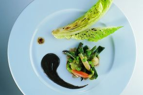 Fresh Glazed Vegetables with Black Truffle