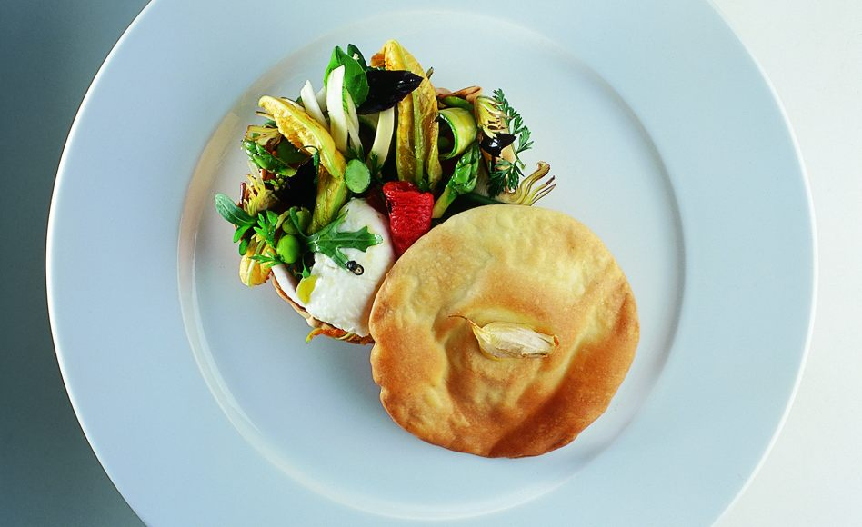 Vegetable Tart with Cuajada