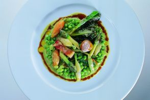 Spring Vegetables with Bacon