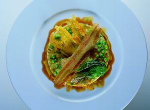 Pea Pod Risotto with Garden Vegetables