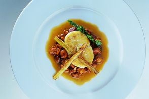 Mediterranean Sea Bass with Chanterelles and Fried Eggplant