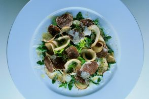 White Alba Truffle and Porcini Mushroom Salad with Parmesan
