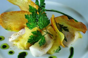 Bilbao Salt Cod Brandade with Homemade Potato Chips