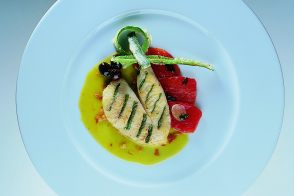 John Dory Fillet with Basil and Green Tomato Sauce